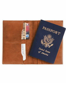 EYERUSALEM PASSPORT WALLET - CHESTNUT