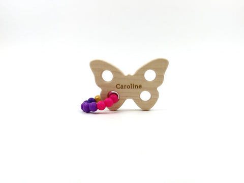 Wooden Baby Teether - Butterfly