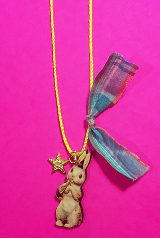 Cottontail Bunny Necklace by Gunner & Lux