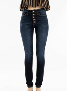 Cecilia High Rise Jeans - Dark Wash