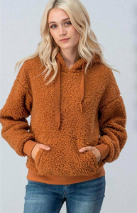Cheatham Teddy Fleece Pullover - Cinnamon