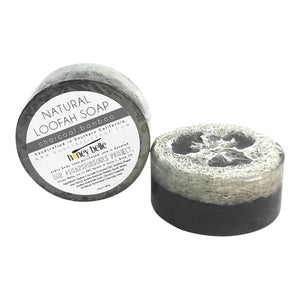 Loofah Soap - Charcoal Bamboo | Exfoliating Luffa Body Soap