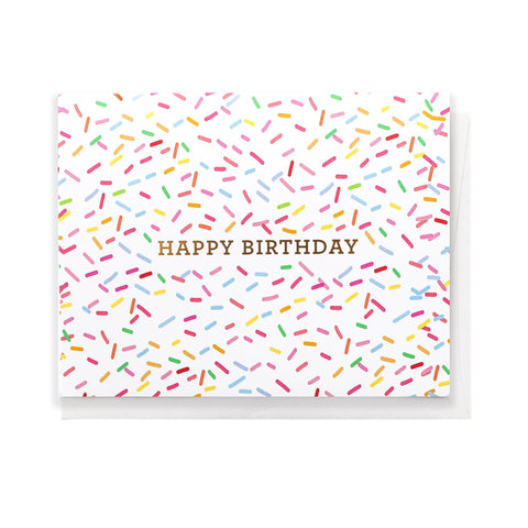 Greeting Card, Birthday Sprinkles