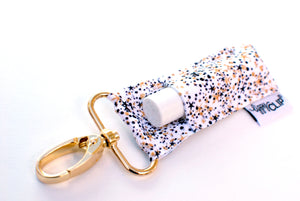 LippyClip® Lip Balm Holder - Black and Gold Confetti