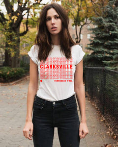 Clarksville Y'all Unisex Tee - White