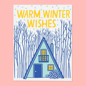 Cabin Winter Card