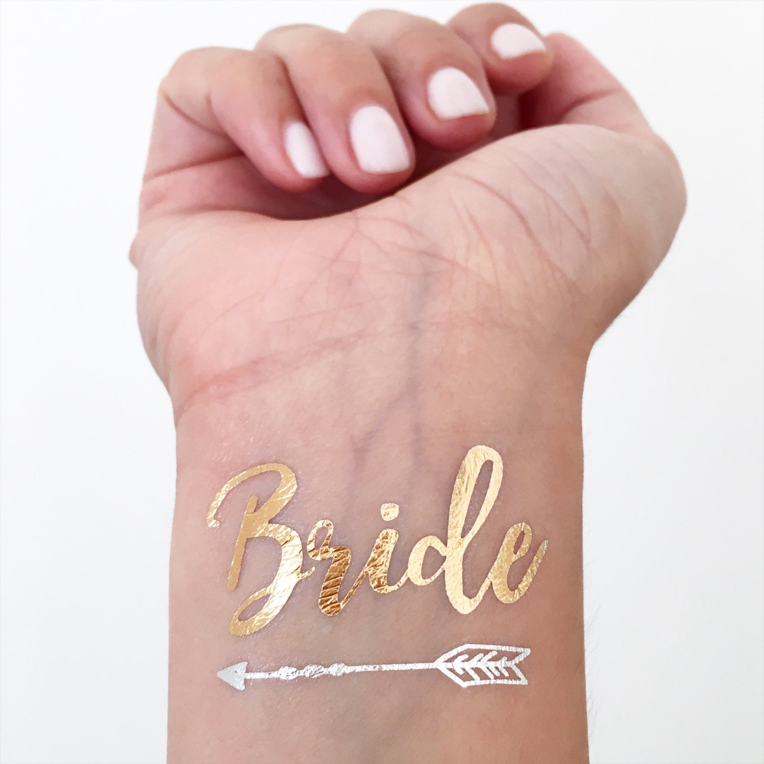 Gold Bride Temporary Tattoos