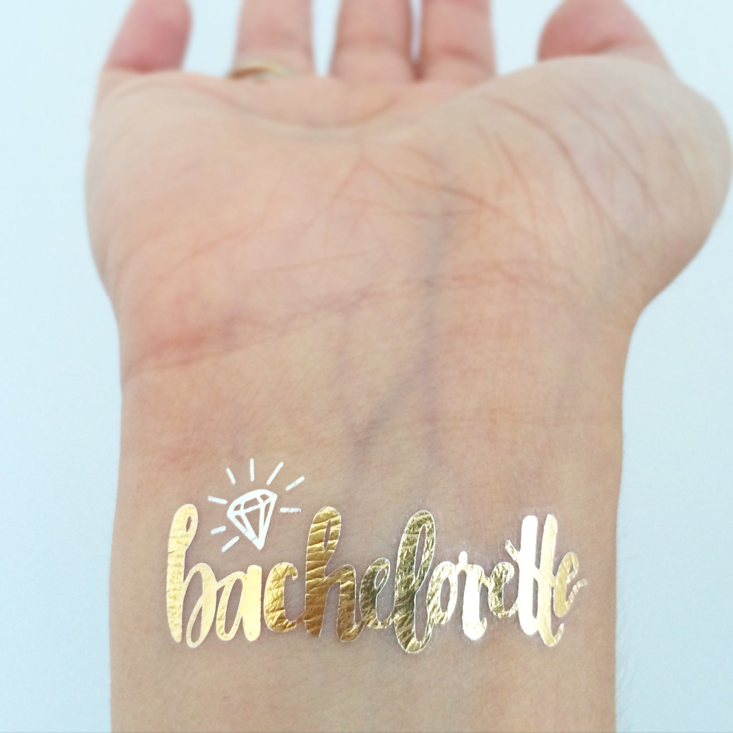 Gold Bachelorette Temporary Tattoos