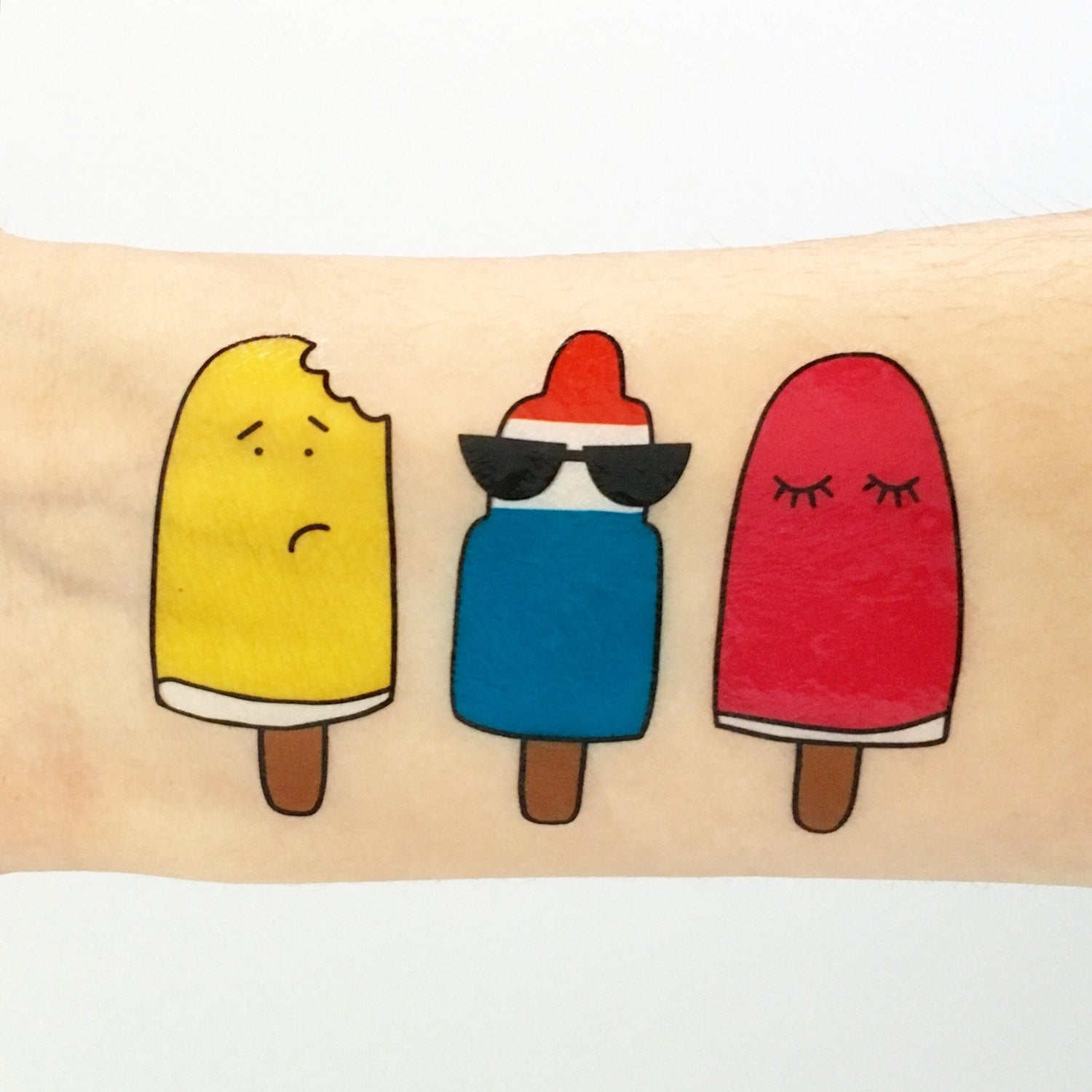 Popsicle Pals Temporary Tattoos