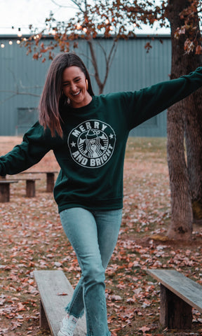 Merry & Bright Pullover - Forest Green