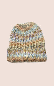 Soft Knit Beanie - Pastel + Gold