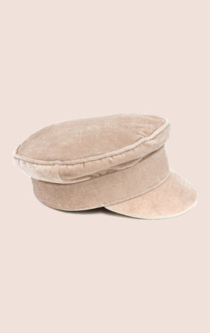 Velvet Conductor Hat - Cream