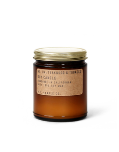 No. 04: Teakwood & Tobacco 7.2 Oz. Standard Soy Candle