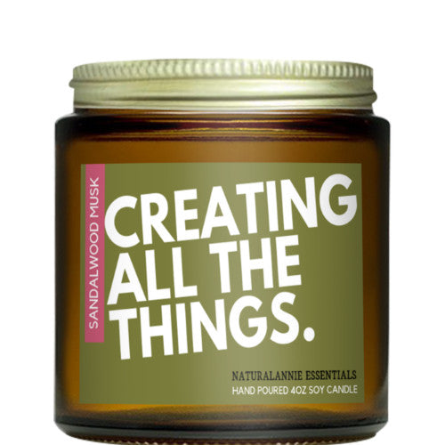 Creating All The Things. Soy Candle