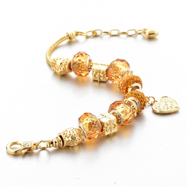 Sacred Heart Gold Charm Bracelet for Women and Girls