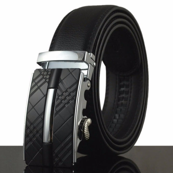 TP1 Automatic Buckle with Black Leather Belt