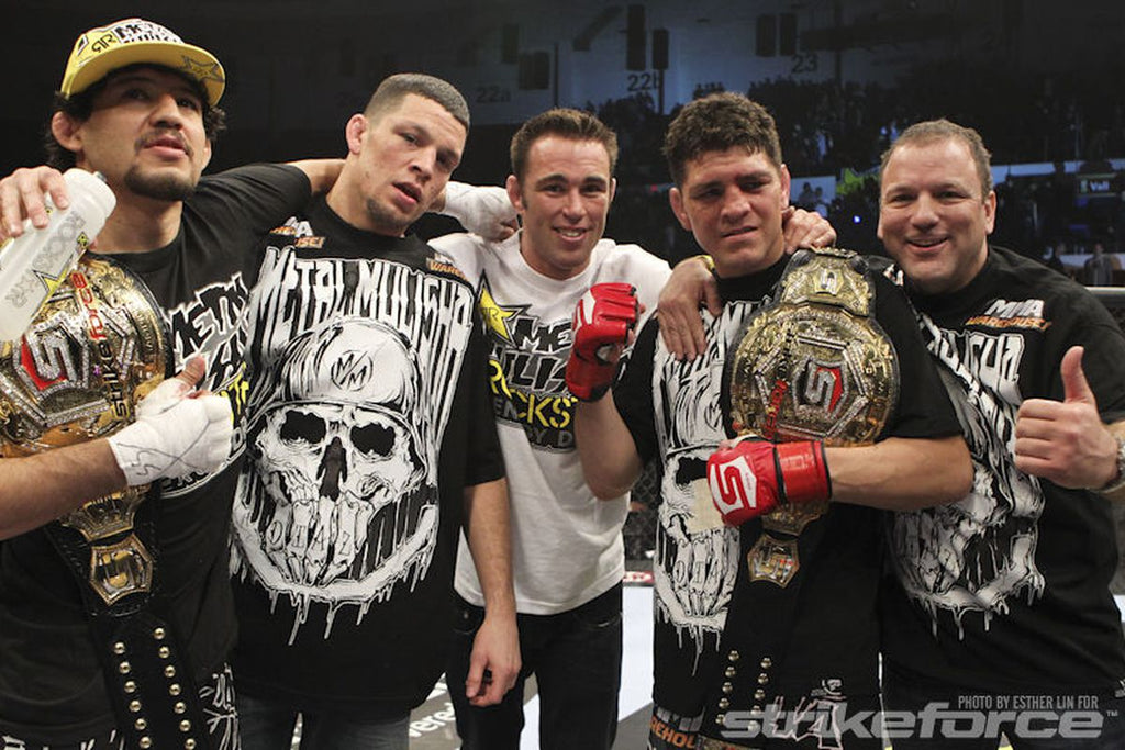 Nick Diaz becomes the Strikeforce Welterweight Champion - Defends 3 consecutive times