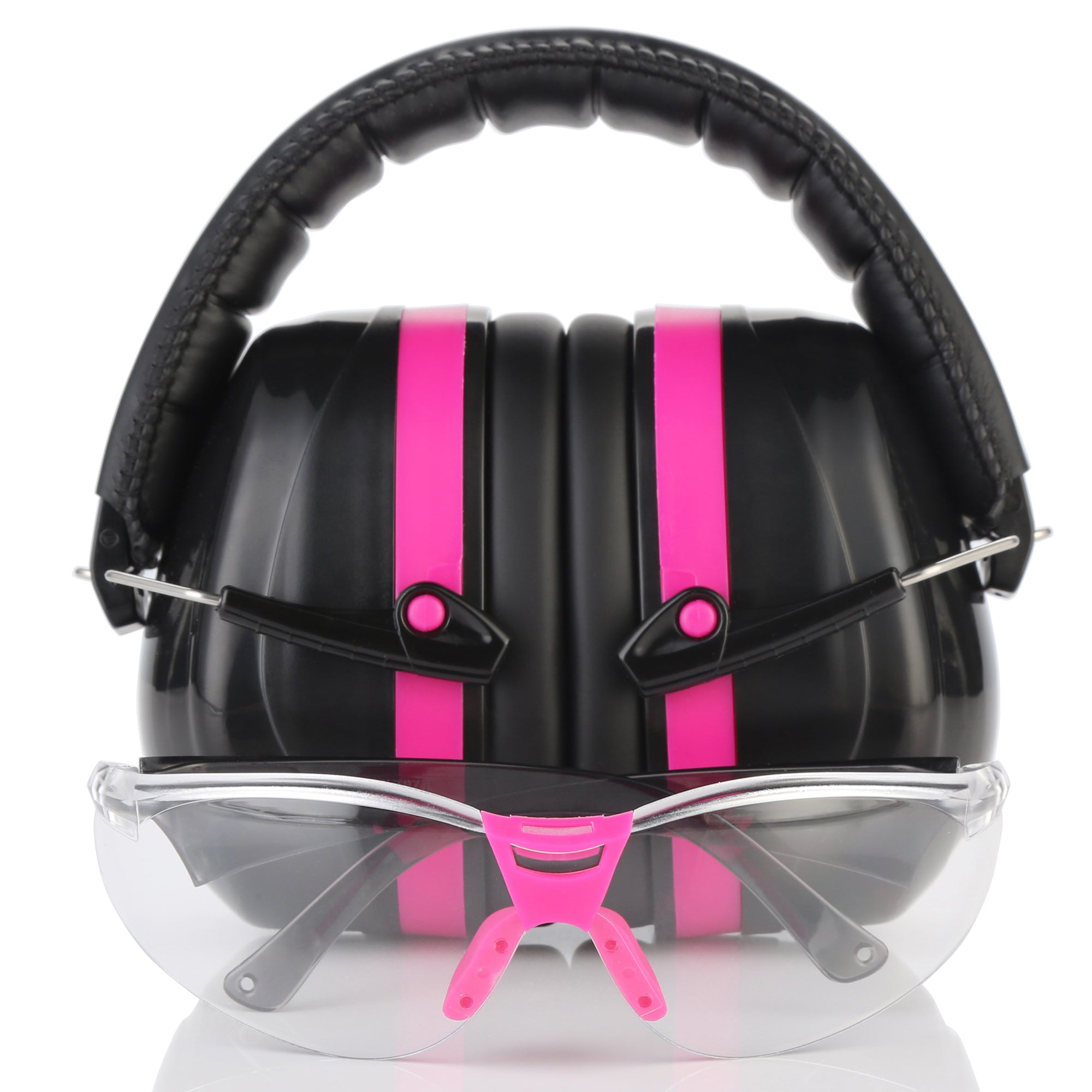 TRADESMART ESSENTIALS - Pink Earmuffs & Clear, Indoor Safety Glasses