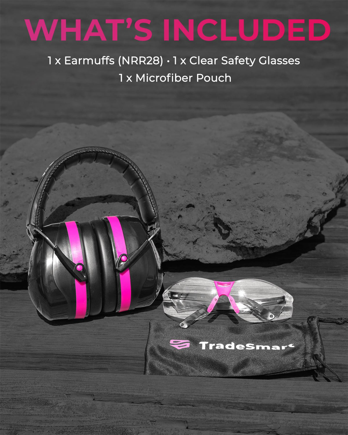 ESSENTIALS - Earmuffs & Clear, Indoor & Tinted Safety Glasses
