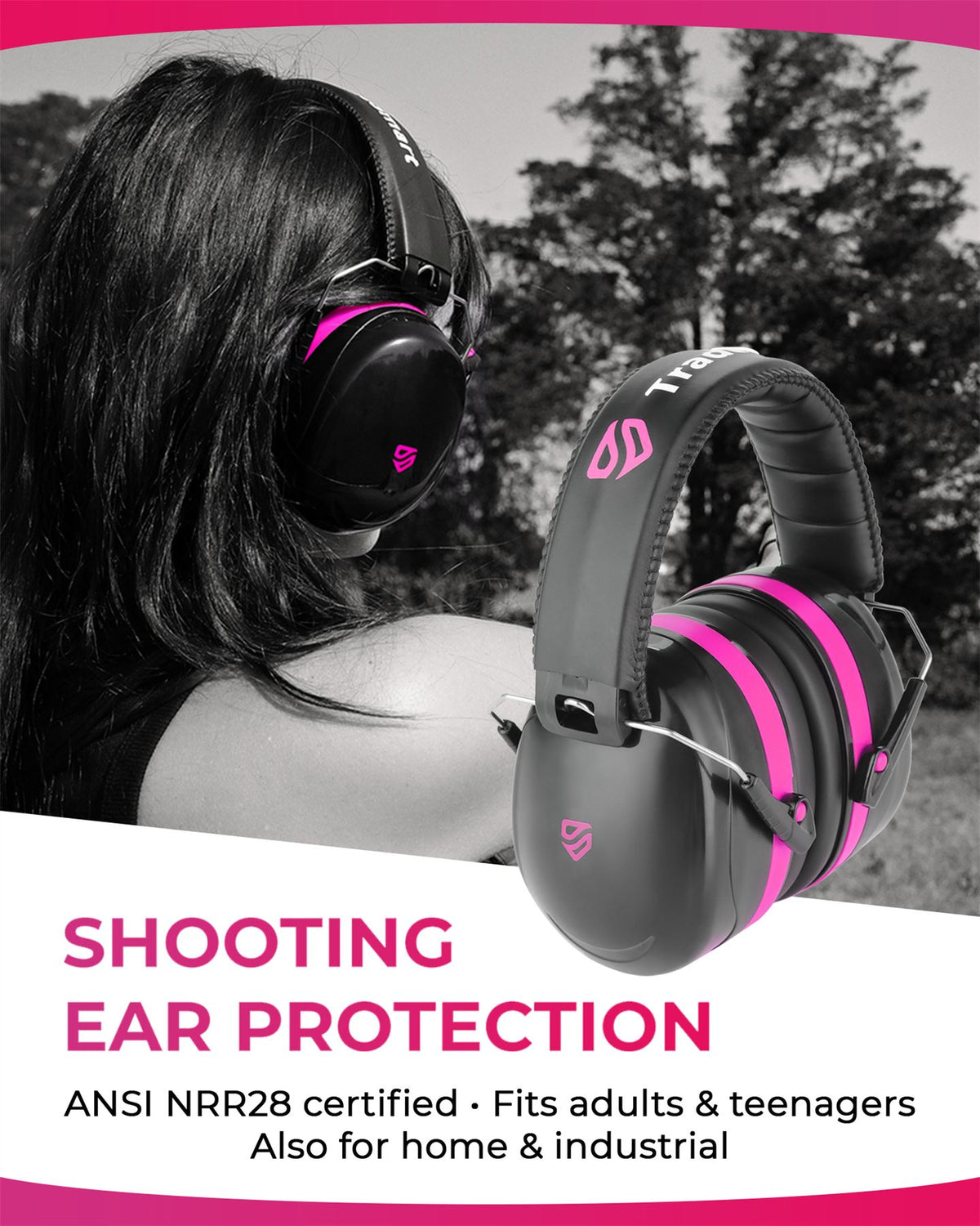 PROFESSIONAL - Earmuffs, Indoor Clear Safety Glasses, Protective Case & Earplugs