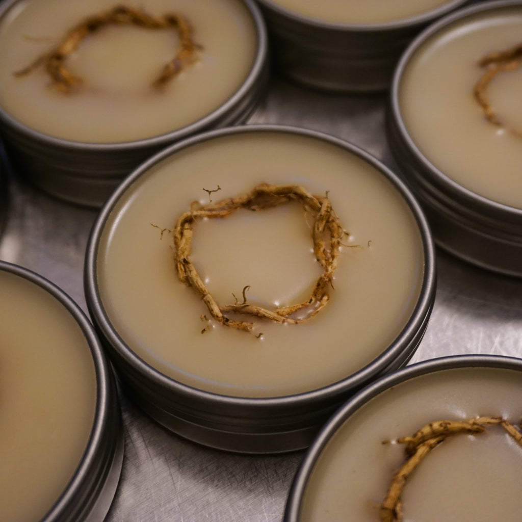 Vetiver Balm with Hawaiian Vetiver Roots