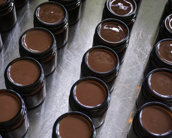 Freshly poured Cacao Oil Masks