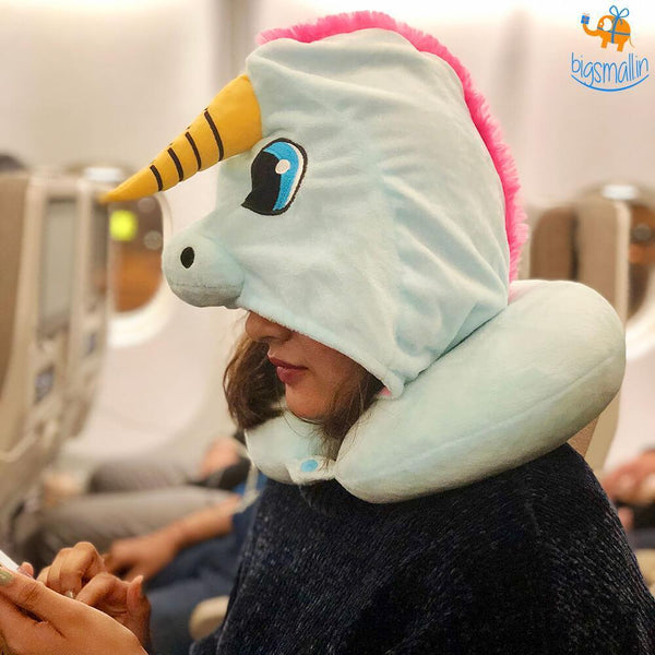 Unicorn Hoodie Neck Pillow