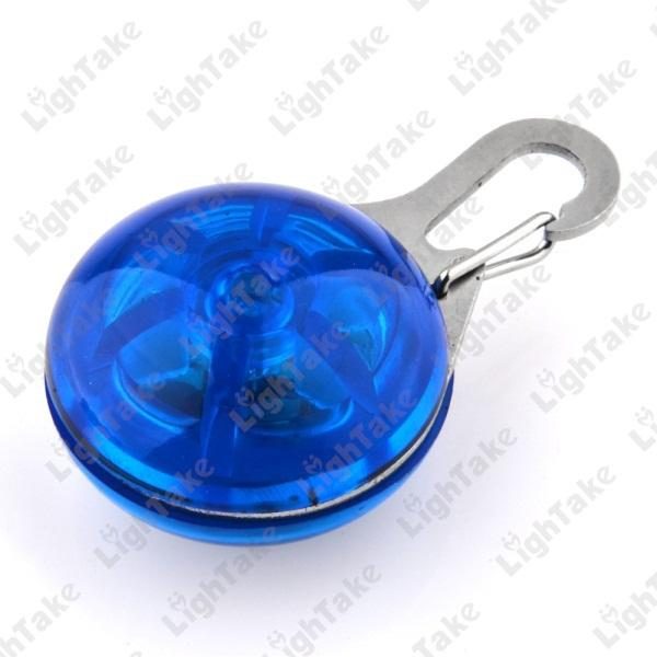 Flashing LED Dog Collar Pendant Clip Light