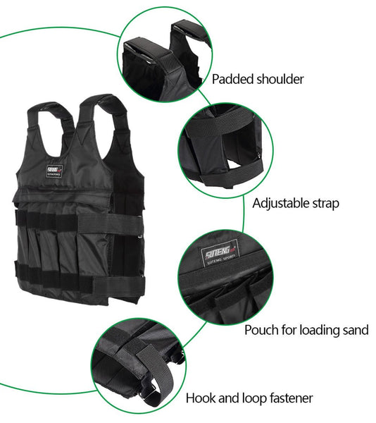 50 kg Loading Adjustable Weighted Vest