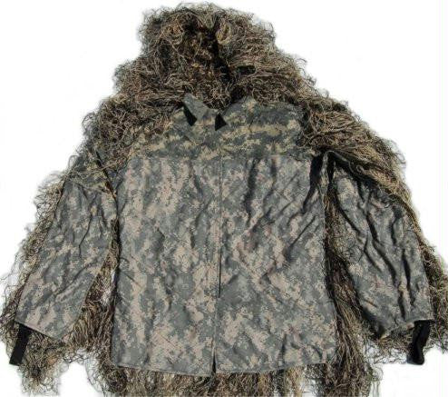 Synthetic Ultra-Light Sniper Ghillie ATD BDU Mossy Jacket XL