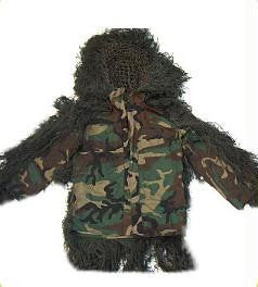 Sniper Ghillie Suit Jacket Woodland Large