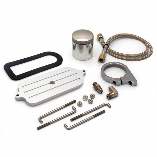 Billet Remote Brake Reservoir Kit W Tank For Mustang Master Cylinder
