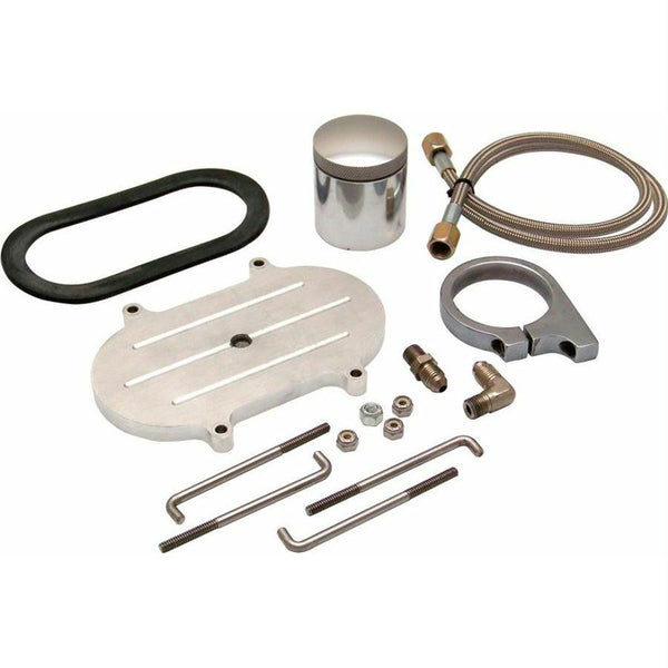 Billet Remote Brake Reservoir Kit W Large Tank For Corvette Master Cylinder