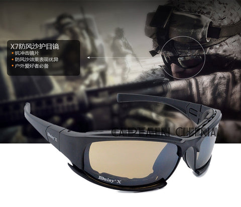 Tactical  Daiisy X7 Glasses Military Goggles Army Sunglasses With 4 Lens Original Box Men Shooting Eyewear Gafas