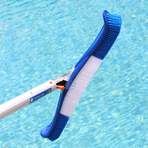 "Free shipping G03 19"" Swimming pool brush cleaning tools Flexible Pool Wall Brush W/Alu Handle&Extra Bristles"