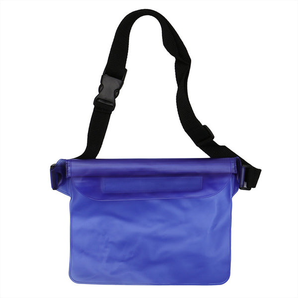 1PC Plastic Waterproof Cover Bag With Strap Sustainable Water Dry Beach Swimming Pool Pouch