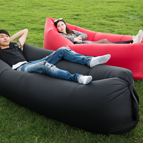 Two Styles Air Sleeping Bag Hangout Inflatable Hammock Air Bed Customized Portable Outdoor Sun Lounger 240*70cm Drop Shipping