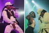 Jacquees Reps His CK Hat During Performance