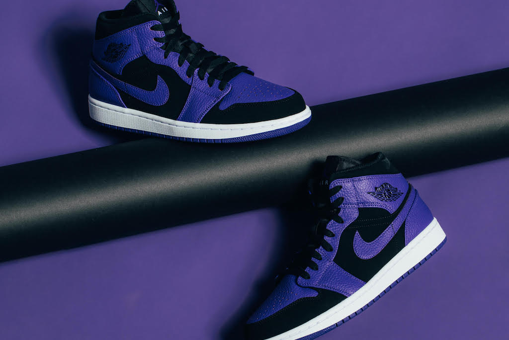 first rate cd183 da8c5 Froth These Purple Air Jordan 1 MIDs – Culture Kings NZ
