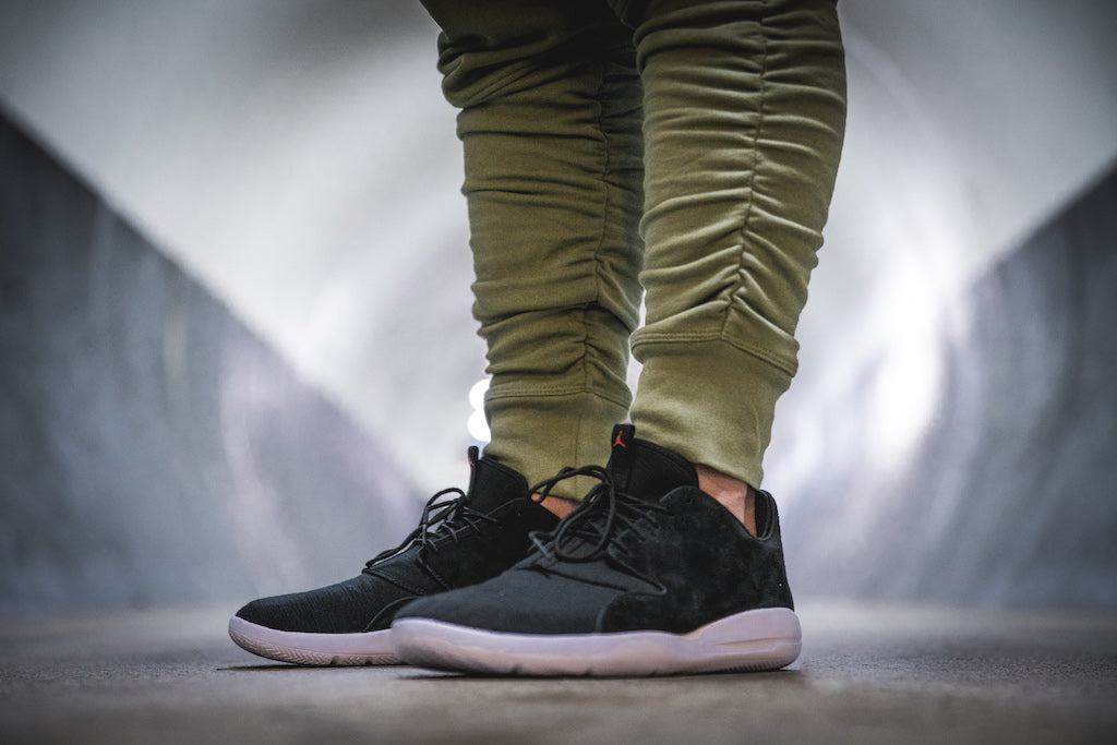 buy online 6f0ef b923f New-Look Jordan Eclipse Leather   Black And Grey – Culture Kings NZ