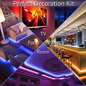 LED Strip Lights Kit With Wireless Remote Controller
