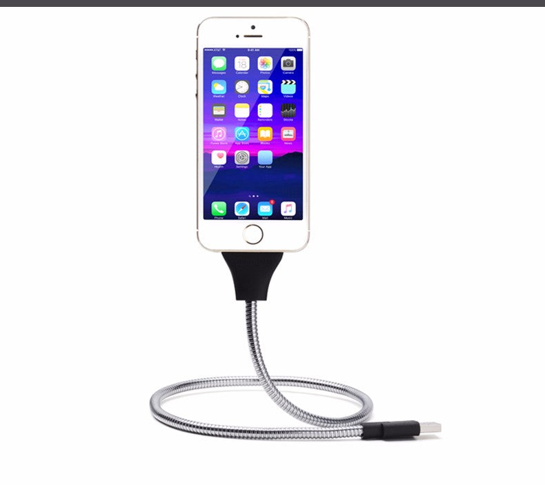 The Flexing Smart phone Dock and Charging Cable