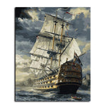 Sailing Boat -Paint By Number Kit