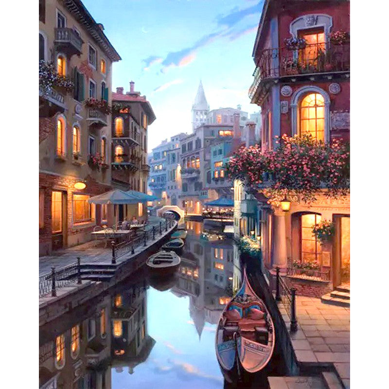 Gondola Night - Painting By Number-Kit