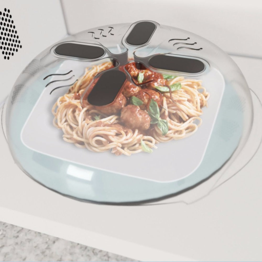 Magnetic Hover Top Microwave Cover