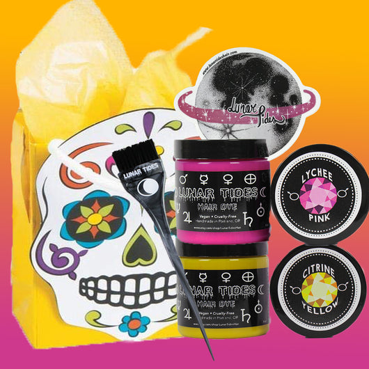 Yellow Sugar Skull Gift Pack