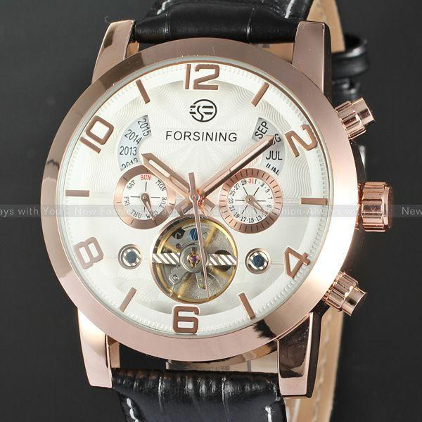 Automatic Stainless Silver Steel Mechanical Watch - World Wide Lux Brands