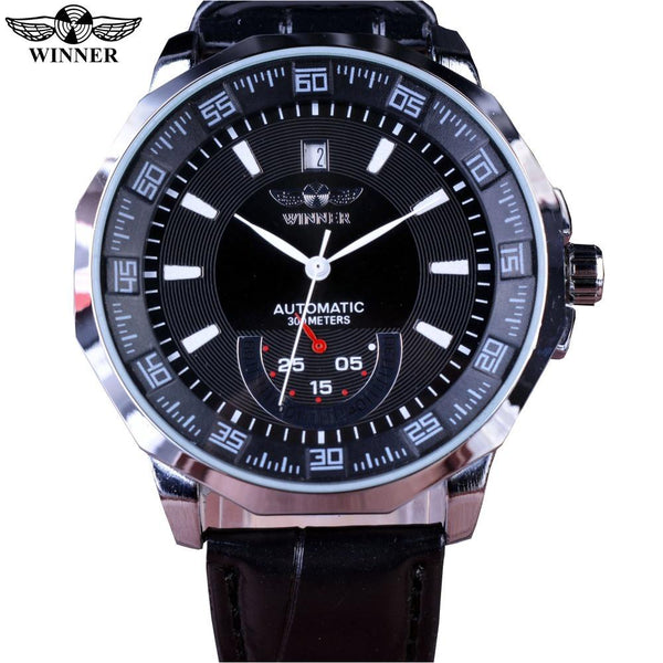Mechanical Black Automatic Wrist Watch - World Wide Lux Brands