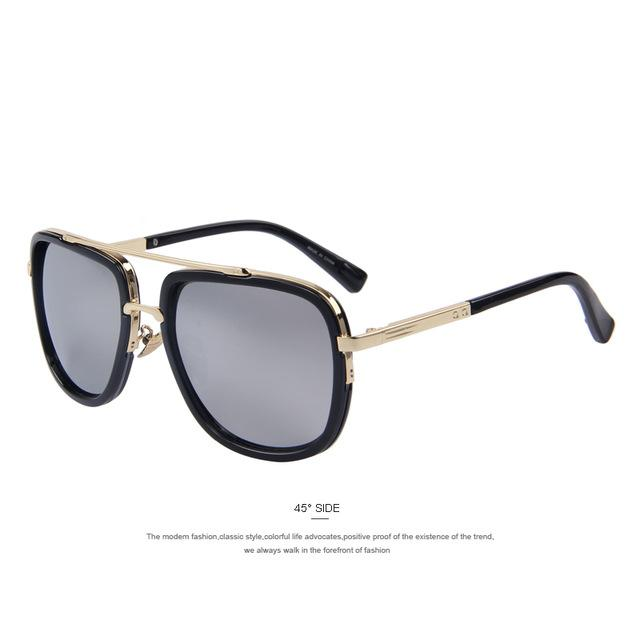 Attention Catcher Square Aviator Sunglasses - World Wide Lux Brands