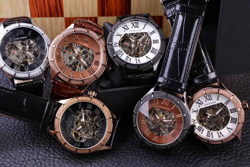 Roman Number Mechanical Wristwatches - World Wide Lux Brands
